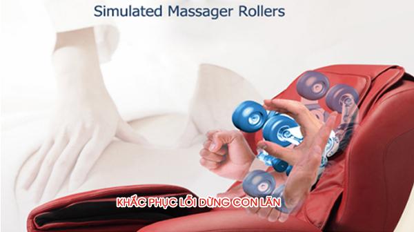 Khắc phục lỗi dừng con lăn ghế massage