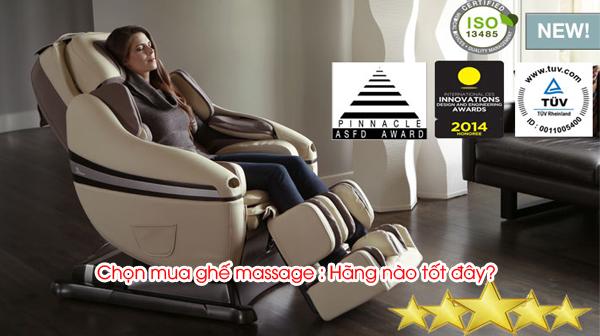 Chọn mua ghế massage : Hãng nào tốt đây?