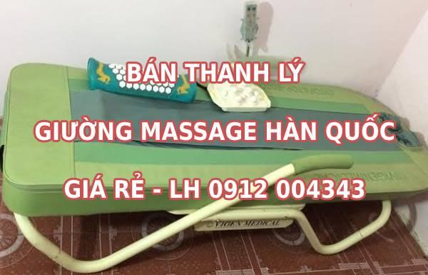 Bán thanh lý giường massage Hàn Quốc